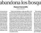 Columna de opinión de Manuel Jaramillo, Director de Conservación de la Fundación Vida Silvestre, publicada en el Diario La Nación el 22/09/2016